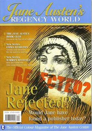 Rejecting Jane - The 'Rejecting Jane' cover of Issue No.28 of Jane Austen's Regency World Magazine