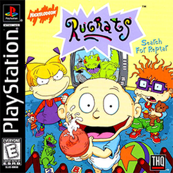 The box art depicts the characters Tommy Pickles, Angelica Pickles, Chuckie Finster, and Reptar.
