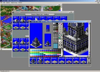 SimCity 2000 - Editing a building in the SimCity Urban Renewal Kit
