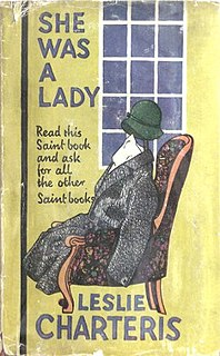 <i>She Was a Lady</i> novel by Leslie Charteris