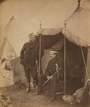 Sir John Campbell, 2nd Baronet - Captain Hume and Sir John Campbell, Crimea War, Photo by Roger Fenton, Library of Congress