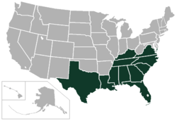 Southern Intercollegiate Athletic Association locations