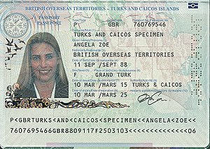 British passport (Turks and Caicos Islands) - Turks and Caicos Islands passport information page