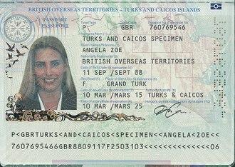 British passport (Turks and Caicos Islands) - Turks and Caicos Islands passport information page