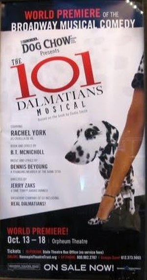 The 101 Dalmatians Musical - Premiere poster