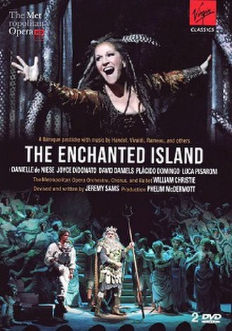 The Enchanted Island (2011 opera) - The Enchanted Island DVD cover with Joyce DiDonato (top), Danielle de Niese (bottom left), and Plácido Domingo (bottom center)
