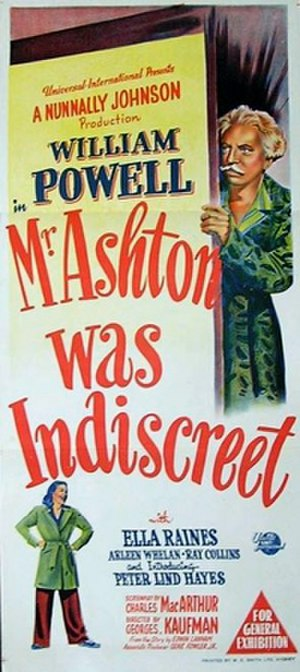 The Senator Was Indiscreet - Theatrical release poster