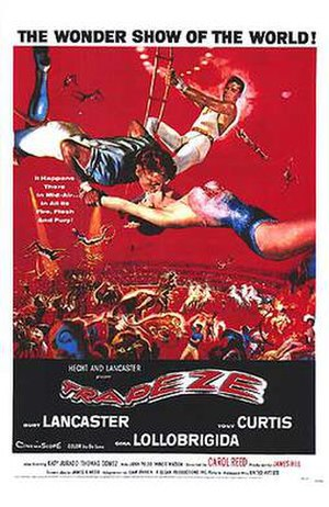 Trapeze (film) - Theatrical release poster