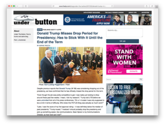 The Daily Pennsylvanian - Image: Under The Button Screenshot