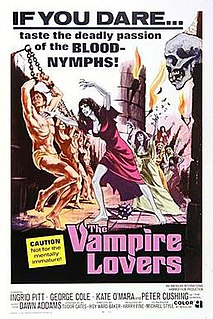 <i>The Vampire Lovers</i> 1970 film by Roy Ward Baker