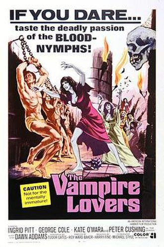 The Vampire Lovers - Theatrical release poster