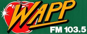 WKTU - The WAPP apple logo from 1982–1986