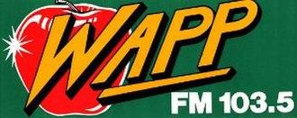 WKTU - The WAPP apple logo from 1982–1986