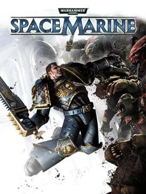 Space marines warhammer 40000 wikivisually warhammer 40000 space marine image warhammer 40000 space marine cover fandeluxe Choice Image