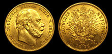 10 goldmark depicting William and his titles (Source: Wikimedia)