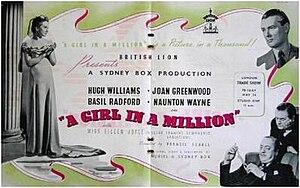 A Girl in a Million - Original trade ad