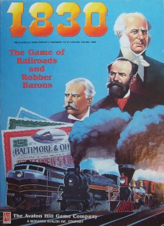1830: The Game of Railroads and Robber Barons - Image: 1830 The Game of Railroads and Robber Barons Cover
