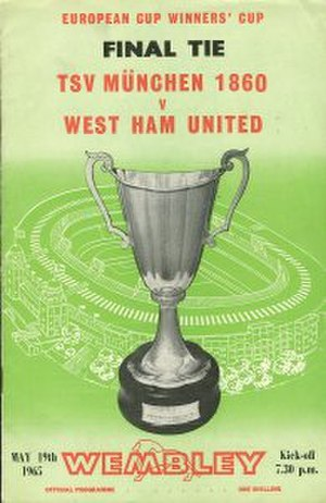 1965 European Cup Winners' Cup Final - Image: 1965 European Cup Winners' Cup Final programme