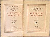 <i>Albertine disparue</i> book