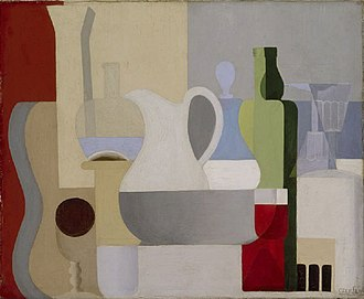 Amédée Ozenfant - Amédée Ozenfant, 1921, Nature morte au verre de vin rouge (Still Life with Glass of Red Wine), oil on canvas, 50.6 x 61.2 cm, Kunstmuseum Basel