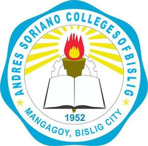 Andres Soriano College - Image: Andres Soriano Colleges of Bislig (crest)