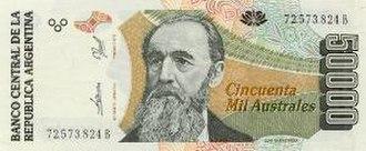 Argentine austral - Image: Autral 50000 A