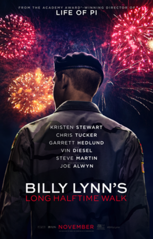 Billy Lynn's Long Halftime Walk (film) - Image: Billy Lynn's Long Halftime Walk poster