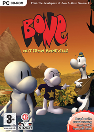 Bone: Out from Boneville - Image: Bone Out from Boneville Coverart