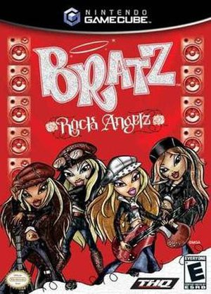 Bratz: Rock Angelz (video game) - GameCube box art
