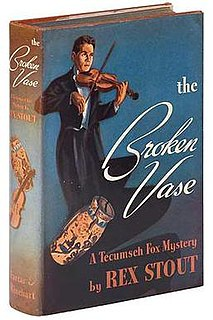 <i>The Broken Vase</i> novel by Rex Stout