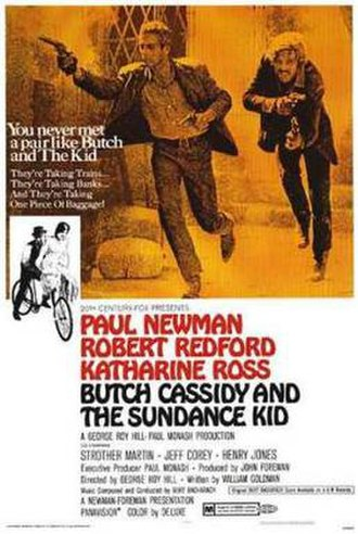 Butch Cassidy and the Sundance Kid - Theatrical release poster by Tom Beauvais