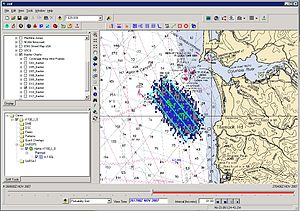 Search and Rescue Optimal Planning System - SAROPS output