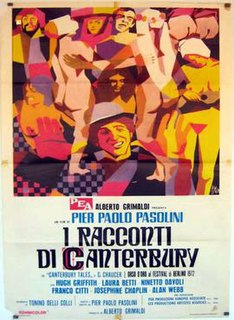<i>The Canterbury Tales</i> (film) 1972 film by Pier Paolo Pasolini