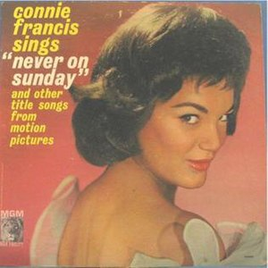"Connie Francis Sings ""Never on Sunday"" - Image: Connie Francis Sings Never on Sunday"