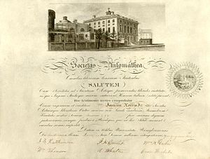 Philomathean Society - Philomathean Society Graduation Diploma For Isaac Norton Jr., 1858.