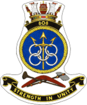 808 Naval Air Squadron - Unit badge for 808 Squadron while in RAN service