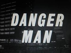 Title Danger Man superimposed over a night street scene in Washington.