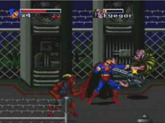 The Death and Return of Superman - Gameplay consists of standard beat 'em up sections