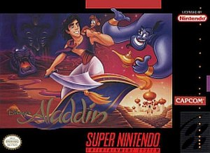 Disney's Aladdin (Capcom video game) - North American SNES box art