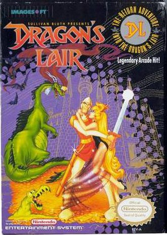 Dragon's Lair (1990 video game) - Image: Dragon's Lair NES cover