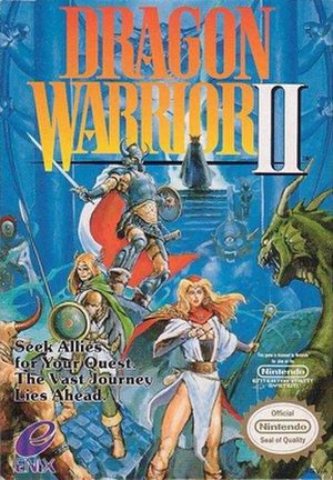 Dragon Quest II - Box art of the original North American NES release, then titled Dragon Warrior II