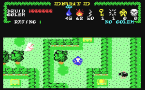 Druid (video game) - Screenshot from the C64 version
