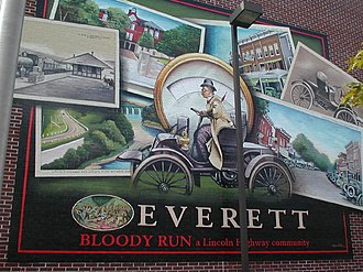 Everett, Pennsylvania - Image: Everett PA Mural