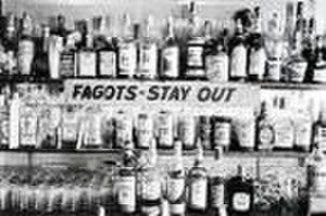 "Barney's Beanery - ""FAGOTS - STAY OUT"""