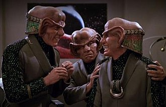"Ferengi - A  trio of Ferengi as seen from the Star Trek: The Next Generation episode ""The Price""."