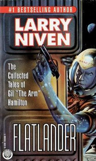 Flatlander (short story collection) - First edition, published by Del Rey Books. Cover art by Chris Moore.