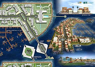 Foreign direct investment in Iran - The Flower of the East Marina, a multibillion-dollar FDI project in the tourism sector in Iran.