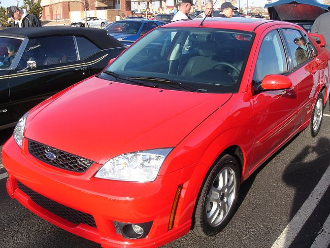 The front of a 2006 Ford Focus ST with the Str...