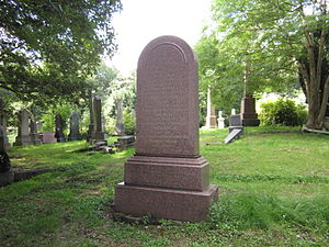 Edward Sang - Edward Sang's grave in Newington cemetery, Edinburgh (plot R1.101)