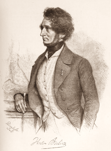 Berlioz by August Prinzhofer, 1845 Hector-Berlioz-1845.png